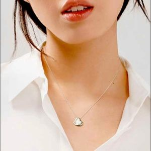 Tiffany & Co Full Heart Sterling Silver Necklace